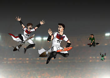 Art Trade - German National Quidditch Team by OlaNaTungee