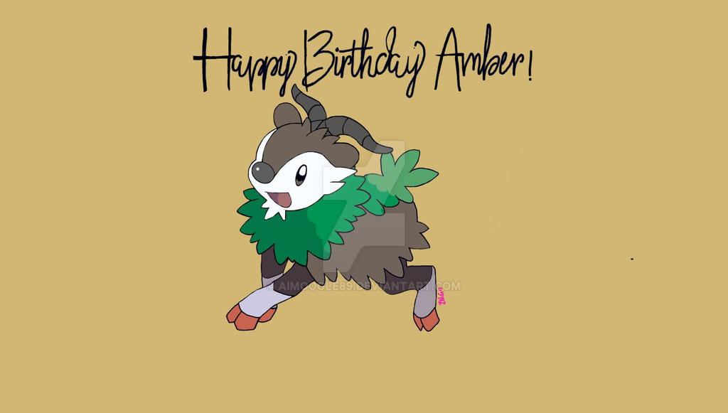 Skiddo hbd for a friend by AiMoogle89