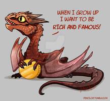 Baby Dragon's Dream - Smaug