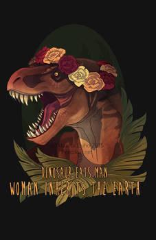 Dinosaur Eats Man