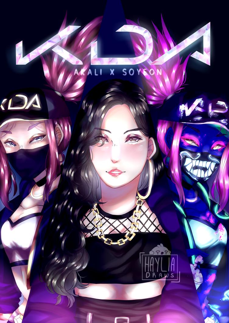 K/DA Akali X (G)I-dle Soyeon by HayliaDraw