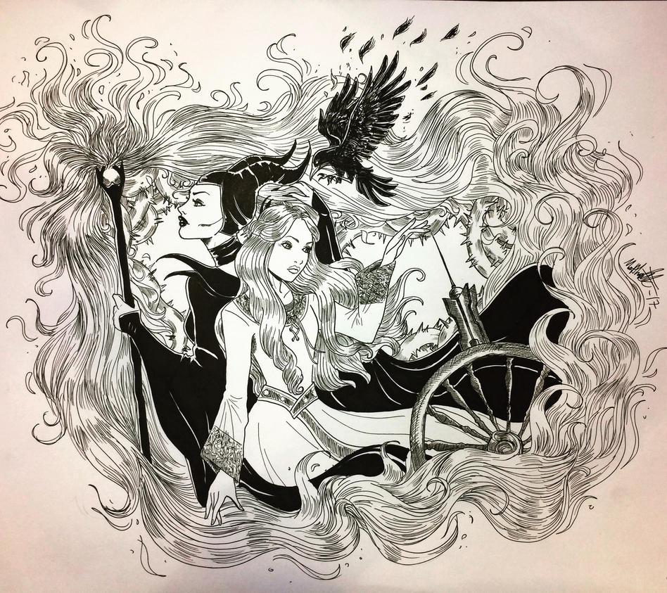Aurora and Maleficent by Madnessunshine