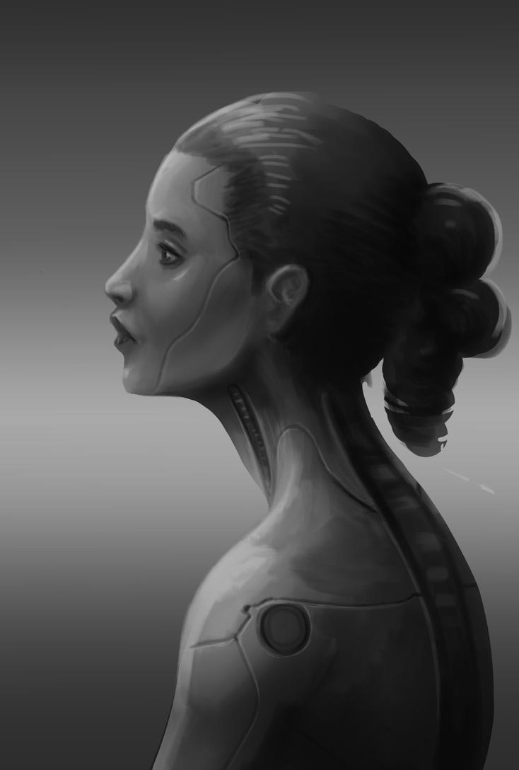 Unfinished Cyborg by royshtoyer