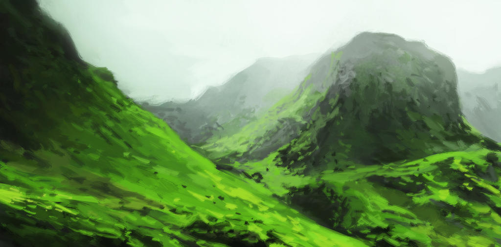 foggy landscape by royshtoyer