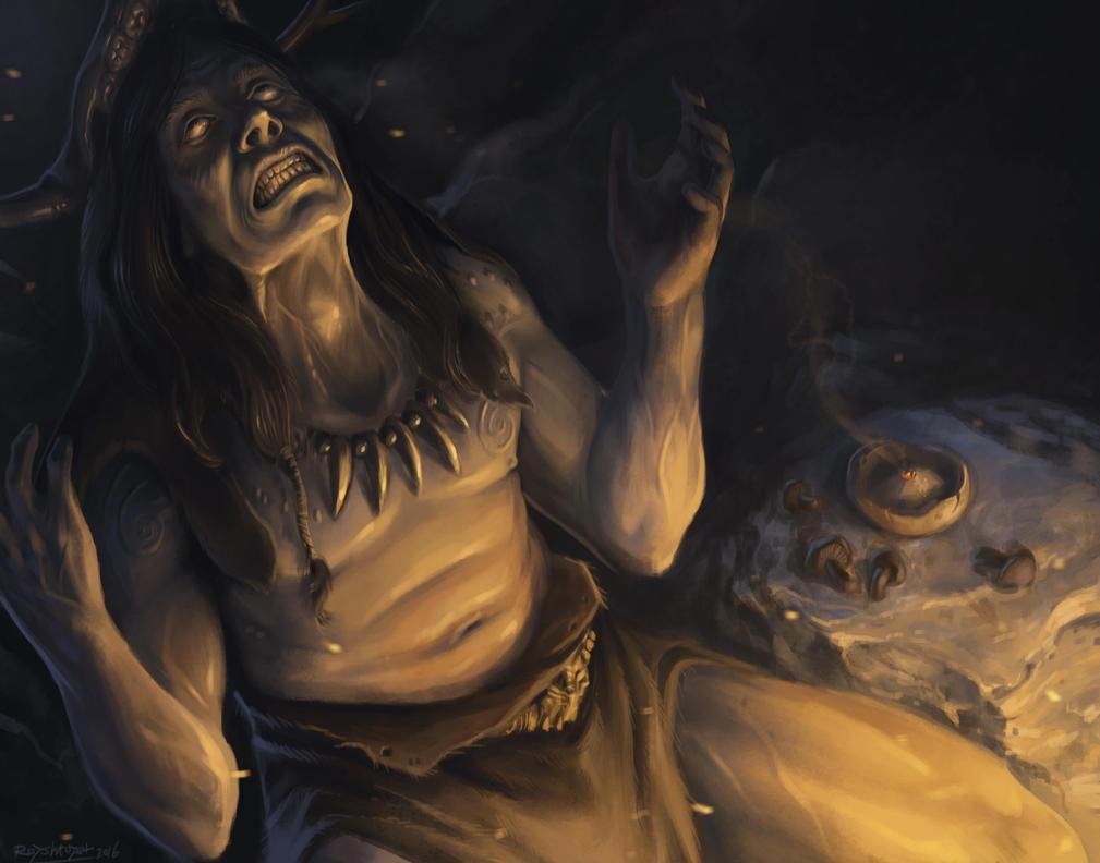 tripping shaman by royshtoyer