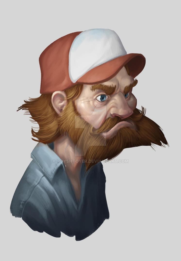 random dude sketch by royshtoyer