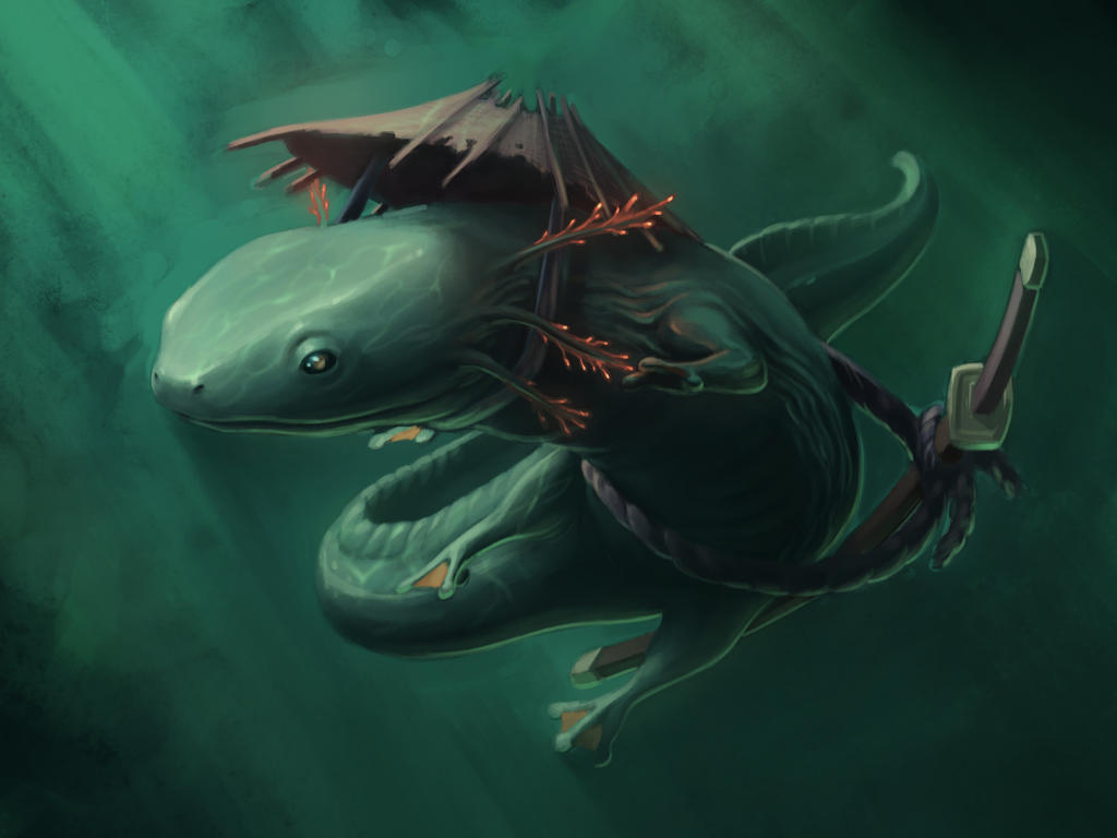 giant salamander by royshtoyer