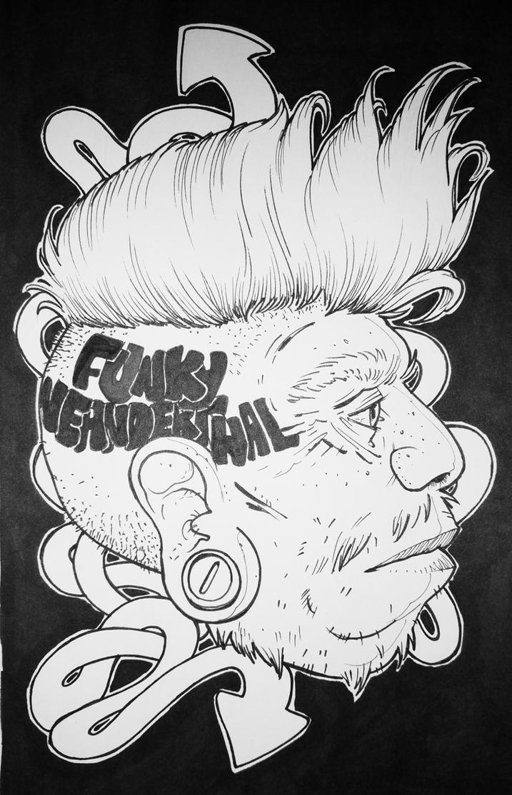 funky neanderthal by royshtoyer