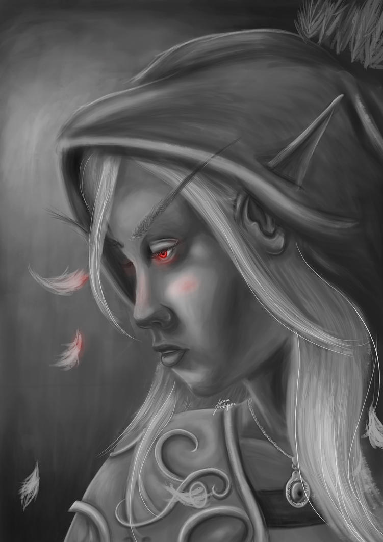 Value study: Sylvannas Windrunner by JuleeRodriguez