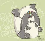 Panda Solving the Rubik's Cube