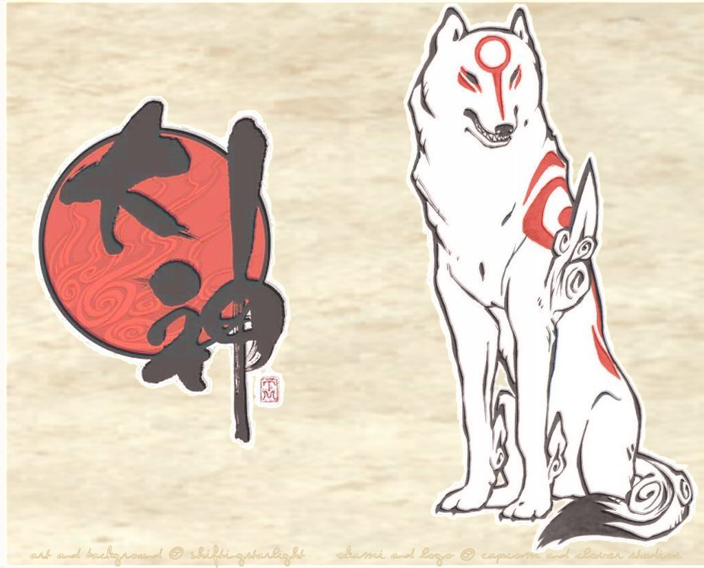 Okami Amaterasu Wallpaper by ShiftingStarlight