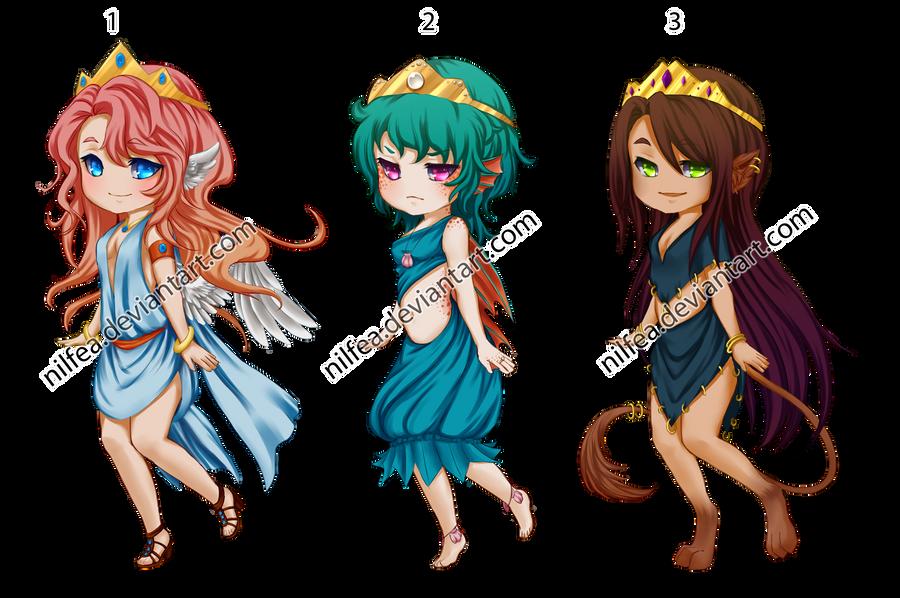 Adoptables- Princess trio [CLOSED] by Nilfea