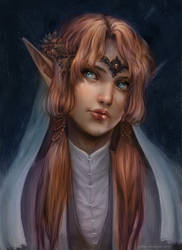The elven lady by Nilfea