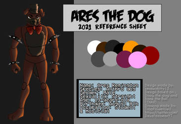 Ares the dog 2021 Reference Sheet