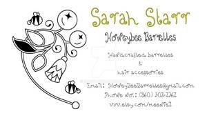 Honeybee Barrettes Card