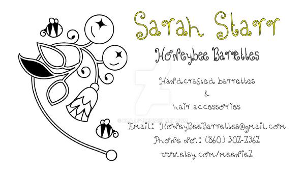 Honeybee Barrettes Card by KCarey