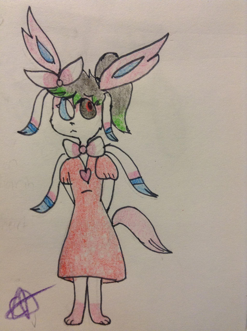 Another art trade with THEONEANDONLYFOXY32 by ThePurpleGriffin