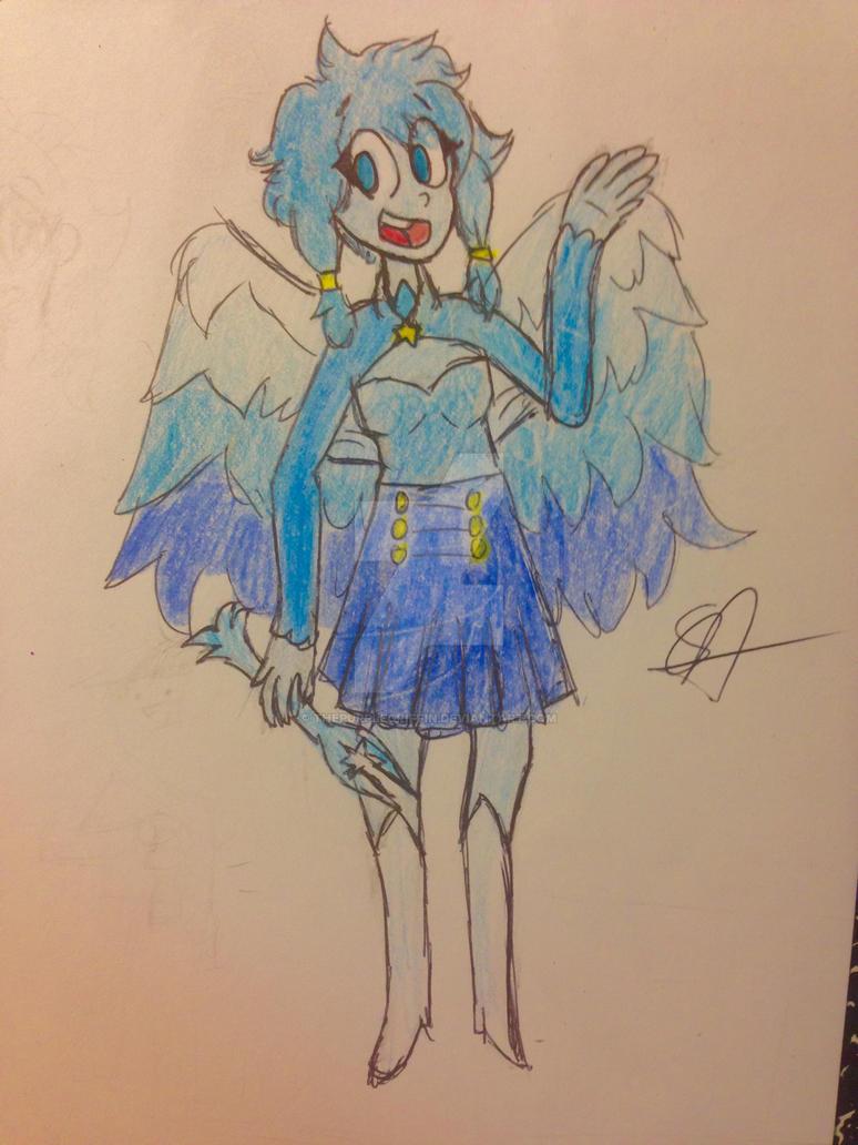 Angelite / / / Sketch commission by ThePurpleGriffin