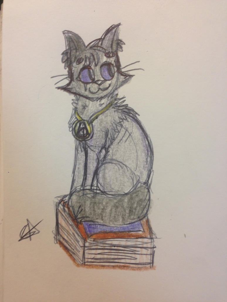 Black Cat /// Sketch Com. for AsrielTheFluffyGoat by ThePurpleGriffin