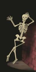 Skeleton says Hi! by TheOrdinaryBird