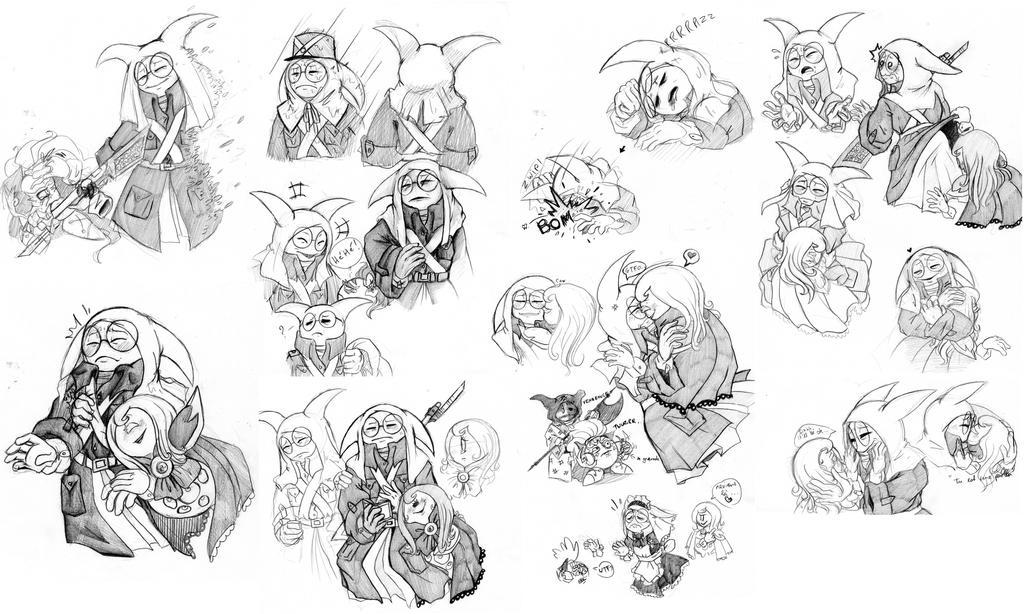 sketchdump by Kirbycutieslove76