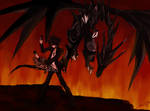 Dragon with Crimson Eyes