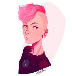 Pink Zombie boy by EglesArt