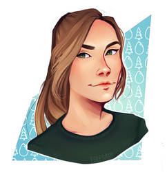 Self portrait by EglesArt
