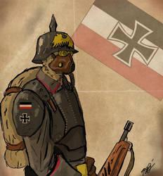 Prussian Steampunk Infantry by Jeremia-Cline