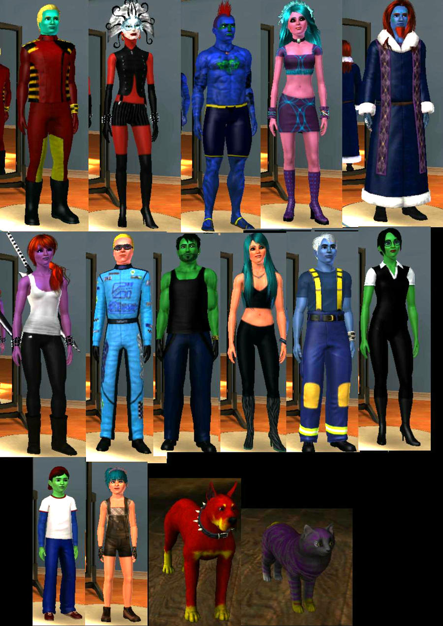 Sims 3 Cartoon Characters : Reboot my sims by pmiow on deviantart