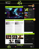 Web site Layout for radio Kapa by TheDpStudio