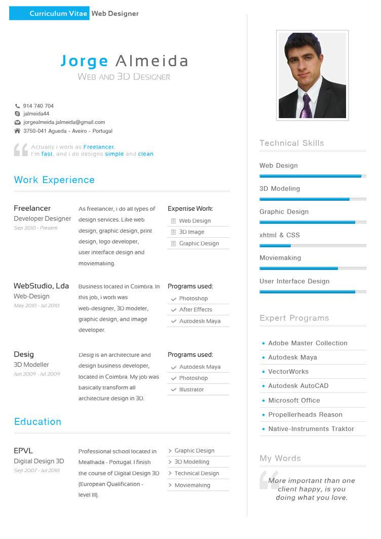 Curriculum Vitae - Jorge Almeida by TheDpStudio