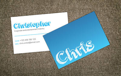 Christopher Card by TheDpStudio