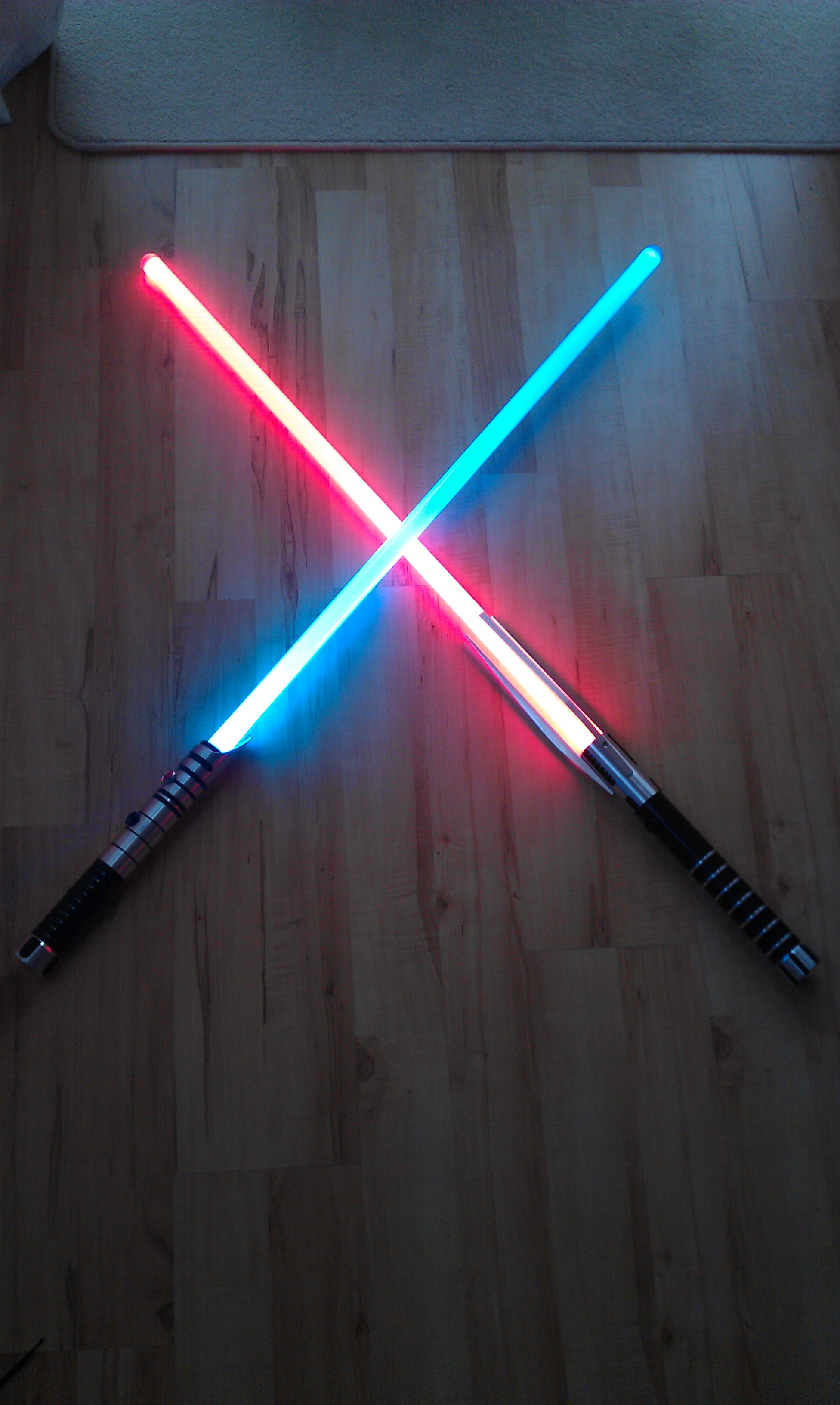 Wall Hung Lightsaber : Crossed Lightsabers by NuFenix on DeviantArt