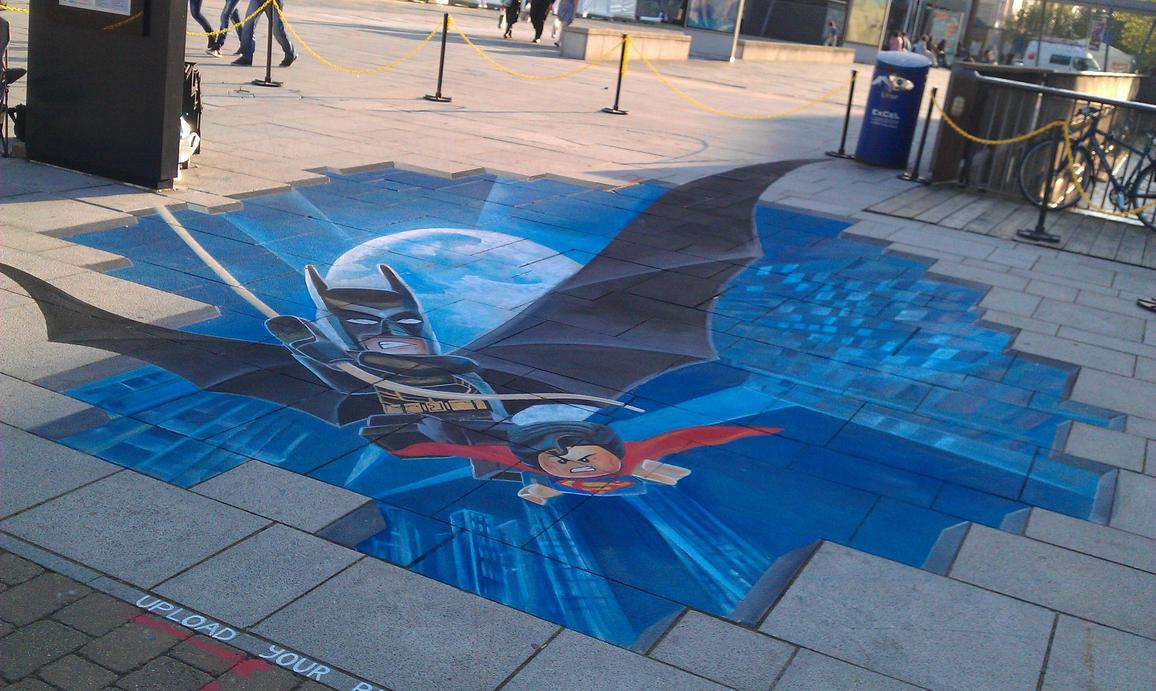 3d street art batman wwwpixsharkcom images galleries
