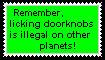 Licking Doorknobs Stamp