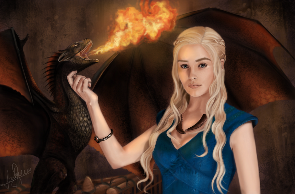 Daenerys Targaryen - Mother of Dragons by laracremon