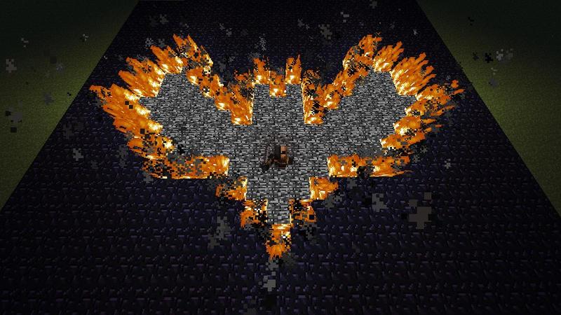 Minecraft Bat Symbol On Fire By Kirby1up On Deviantart