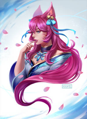Spirit Blossom Ahri by Meramii