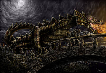 Glaurung invades Nargothrond by sboterod