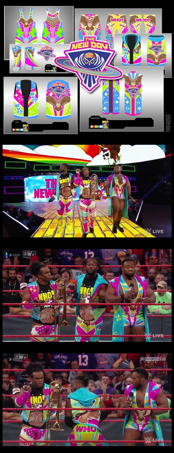 WWE The New Day Survivor Series 2016 Gear by davenpoe