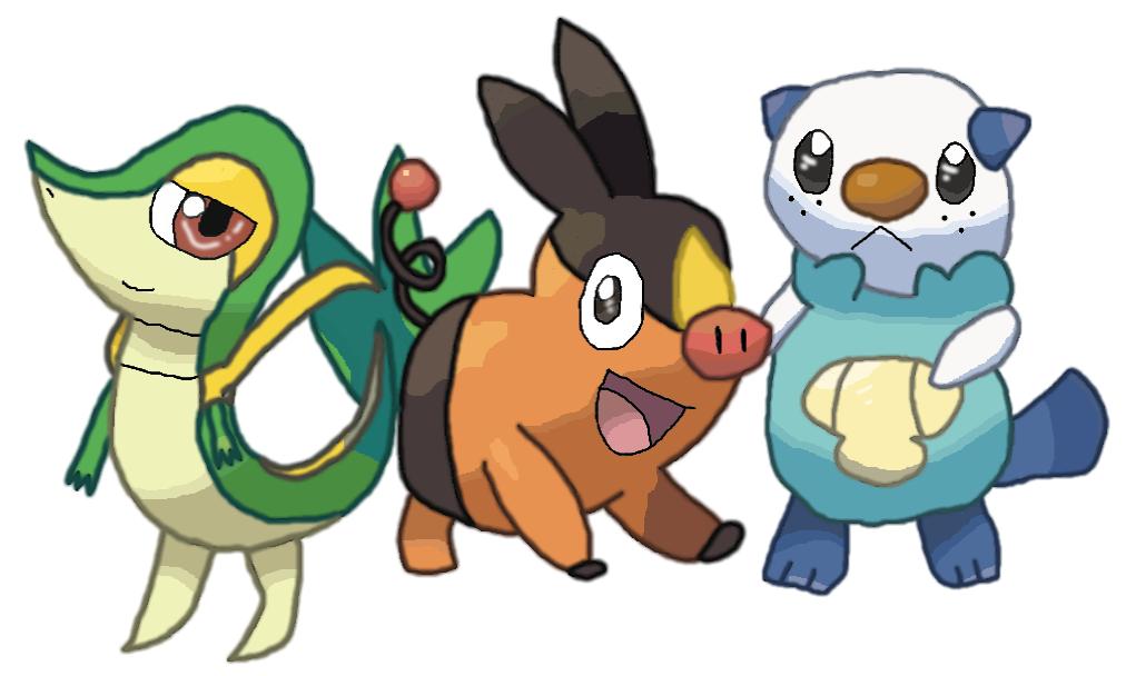 Kleurplaten Pokemon Snivy.Snivy Tepig And Oshawott Freedraw By Ladysesshy On Deviantart