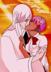 Bleach Status: Jushiro and Rika's First Kiss by LadySesshy