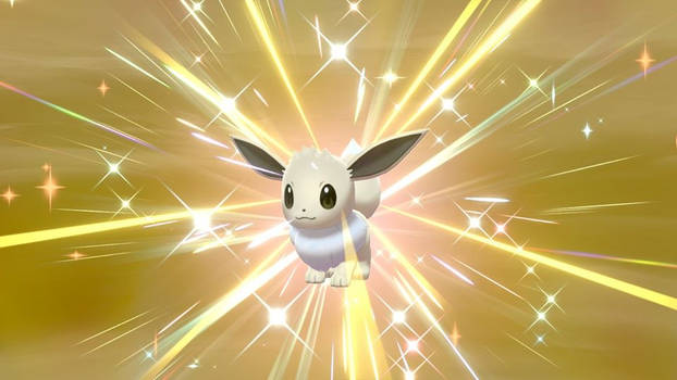 Pokemon Shield: Hatched a shiny Eevee