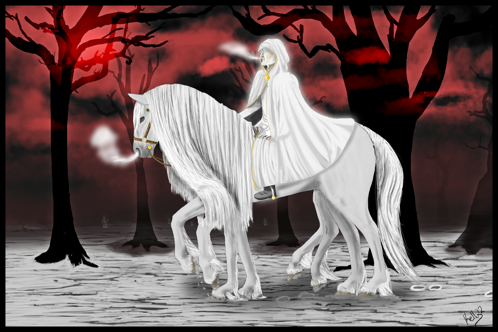 Odin and Sleipnir by SiofraTural on DeviantArt