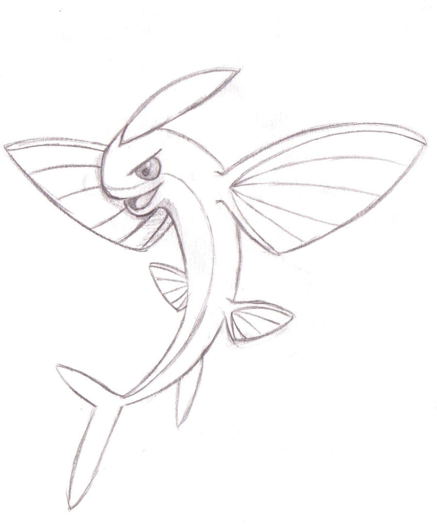 Salwing flying fish pokemon by pokemansion on deviantart for Flying fish drawing