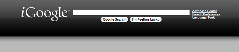 sleek dark igoogle by saftsaak
