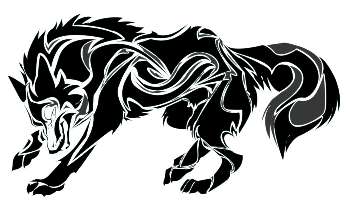 Tribal Wolf Art by pho...