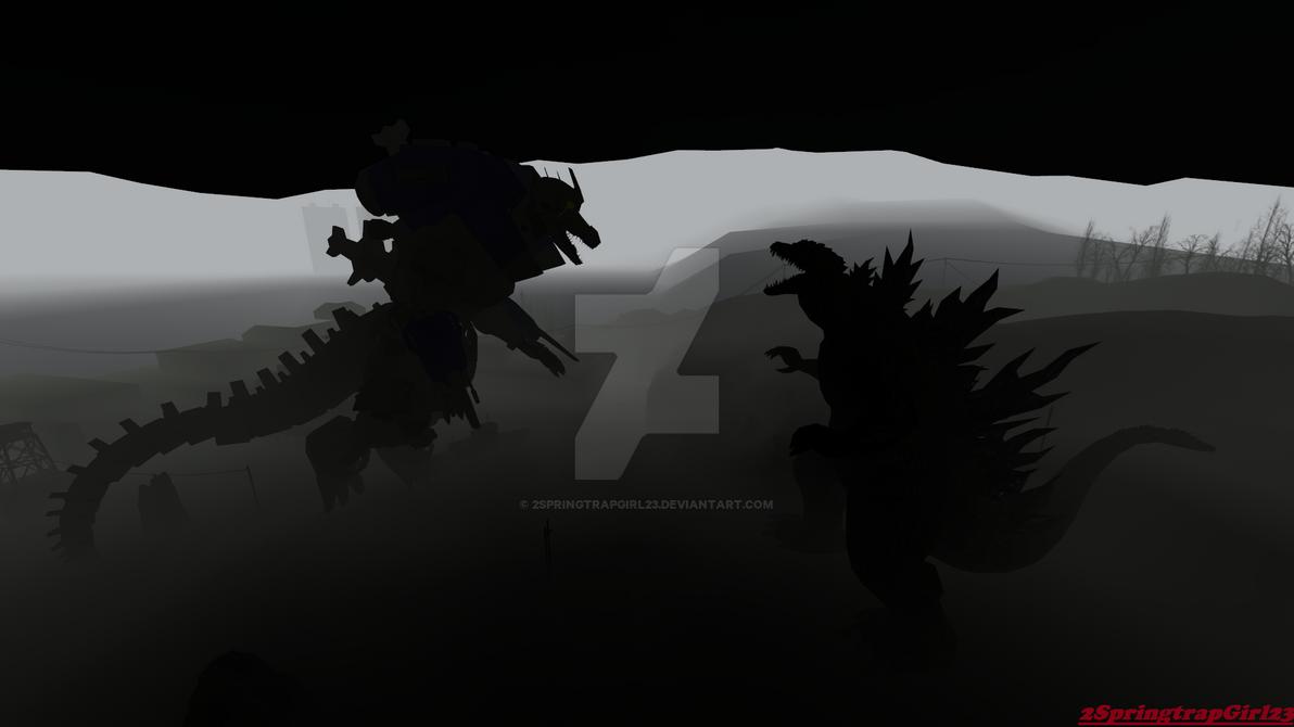 Godzilla vs Kiryu dark edition by 2SpringtrapGirl23 on ...