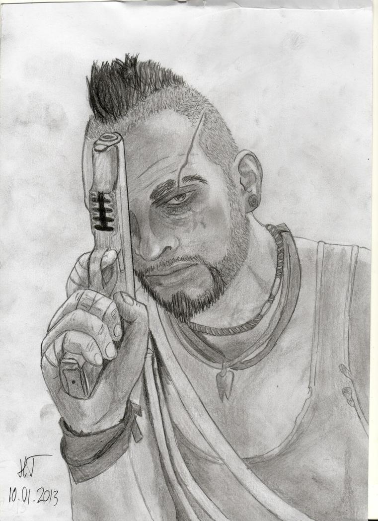 Vaas far cry 3 drawings
